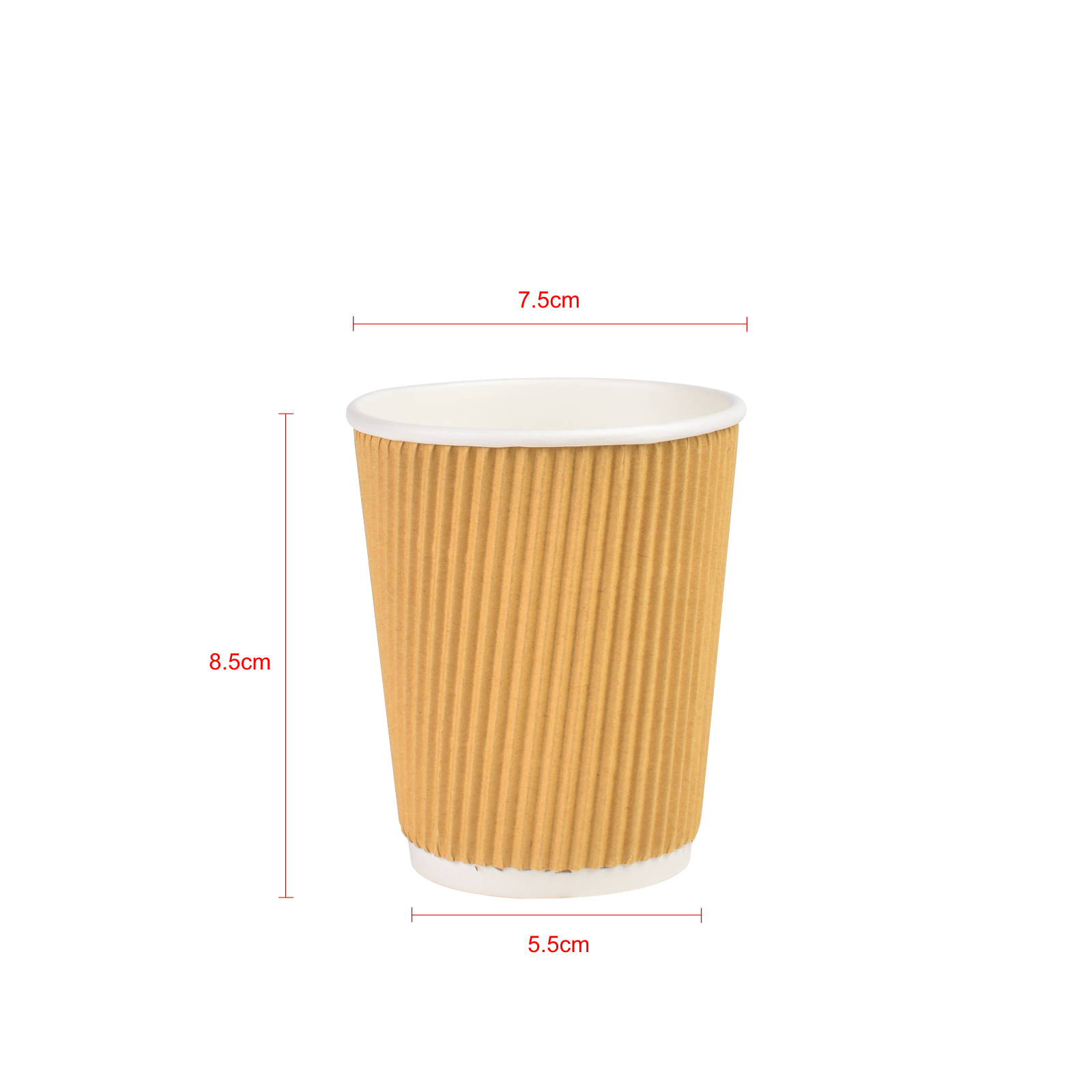 8OZ Double Wall Ripple Hot Cup - Brown 25pcs  RM 7.50.png