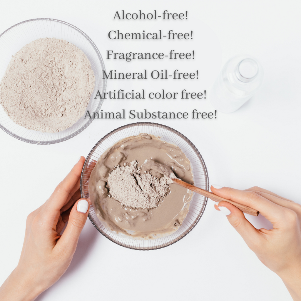 Alcohol-free! Chemical-free! Fragrance-free! Mineral Oil-free! Artificial color free! Animal Substance free!.png