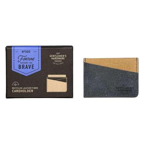 GEN302_Black & Tan Recycled Leather Card Holder_flat.jpg