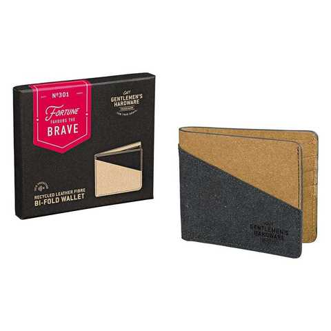 GEN301_Black_&_Tan_Recycled_Leather_Bi-Fold_Wallet_angle.jpg