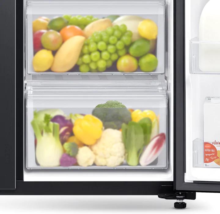 Easily store more vegetables & fruit