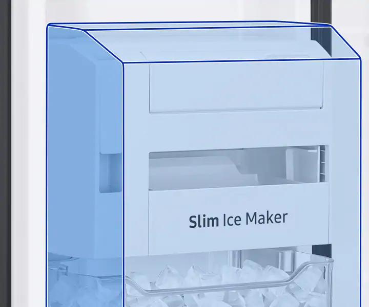 More ice, more freezer storage space