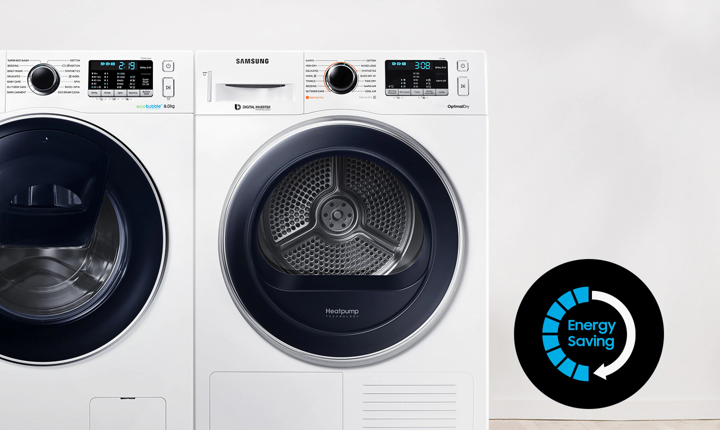 Samsung front load Tumble Dryer with Heatpump technology
