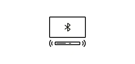Bluetooth TV connection icon