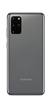 Galaxy S20 plus in Cosmic Gray seen from the rear