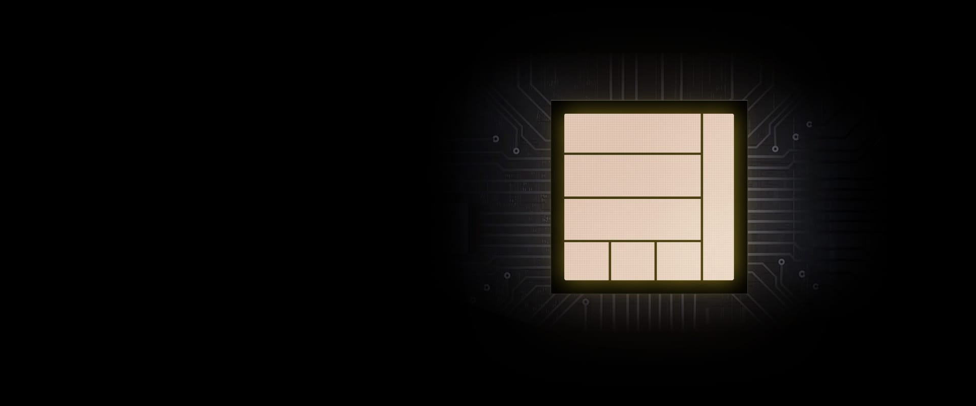 Description: An illustration of a chip providing powerful performance to Galaxy S20 FE.