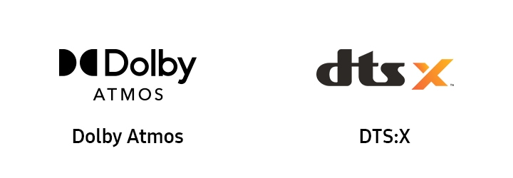 Dolby Atmos icon and DTS:X icon