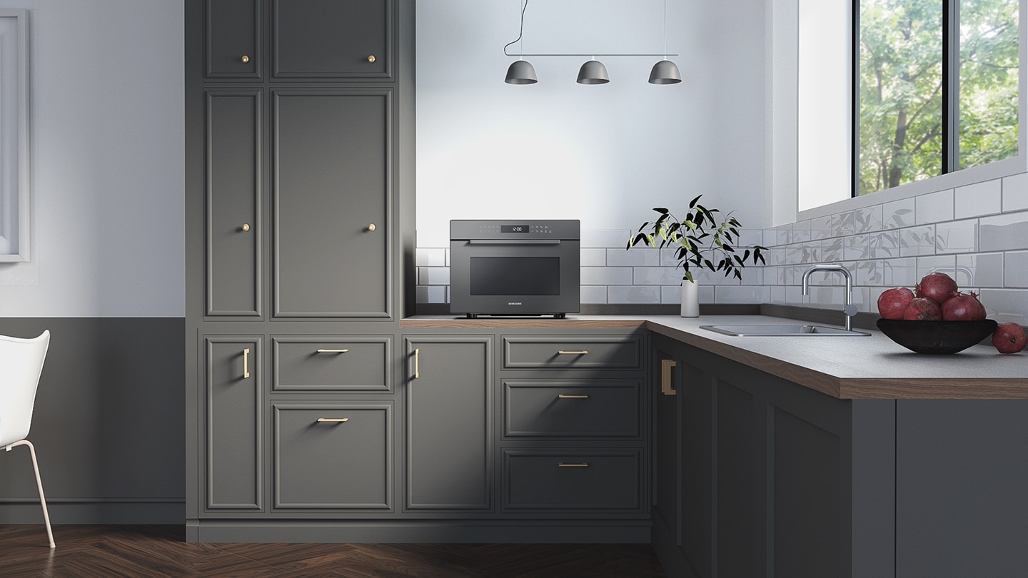 New countertop microwave oven designed to match your kitchen interior