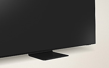 The side of the TV is shown.