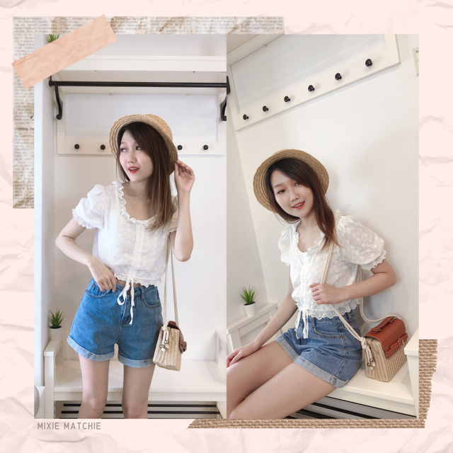 Mixie Matchie Lace Blouse 钩花蕾丝单品