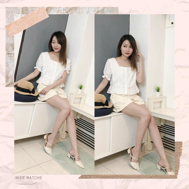 Mixie Matchie MM Label lace blouse MM 独家款 钩花蕾丝
