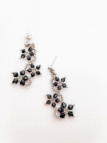 Trio Floral Midnight Earrings 2.jpg