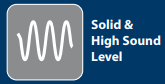 Solid High sound level
