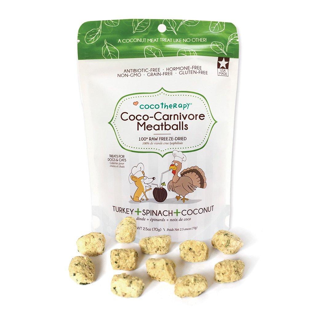 CocoTherapy Coco-Carnivore Meatballs Treats Turkey + Spinach + Coconut 01.jpg