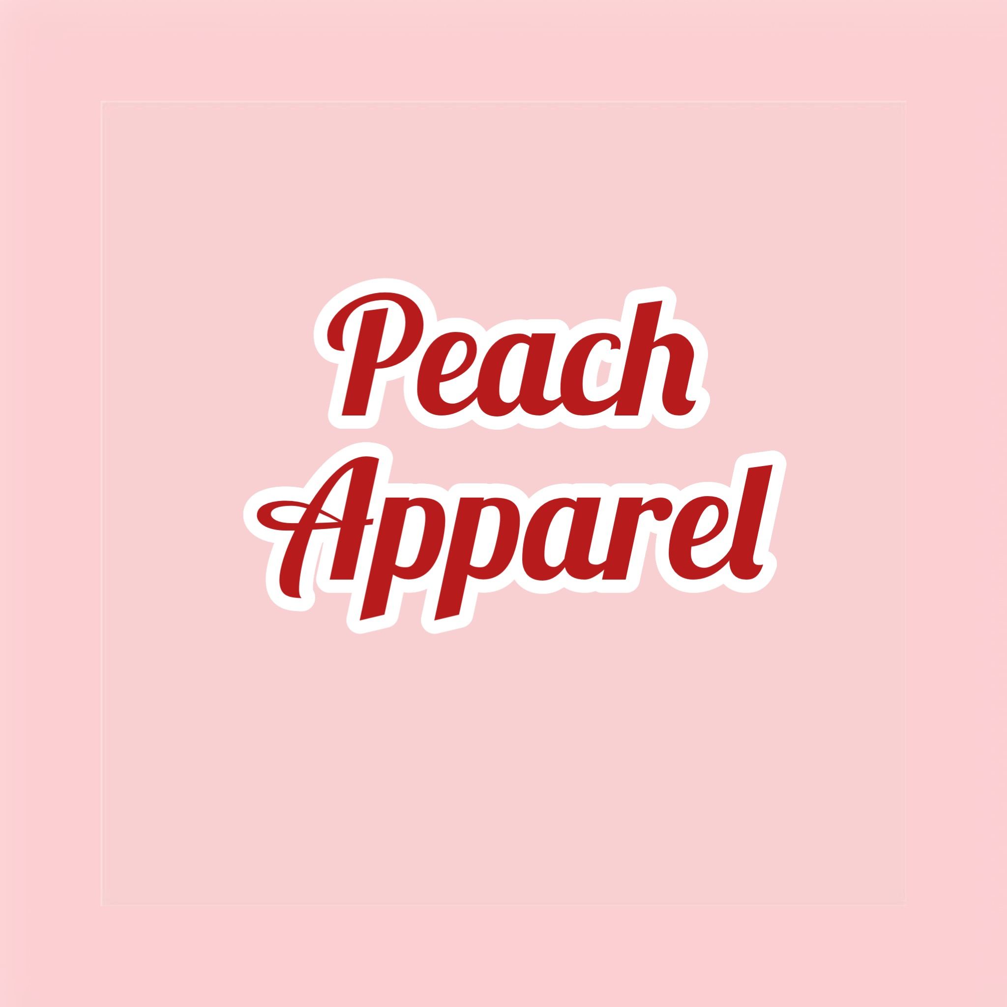 Peach apparel