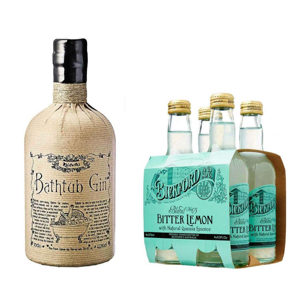 Bathtub Gin + 4 bottles of Bickford & Son Bitter Lemon 275ml.jpg