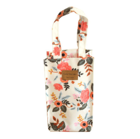 55 CUTE WATER BOTTLE BAG- WHITE FLOWERS.png