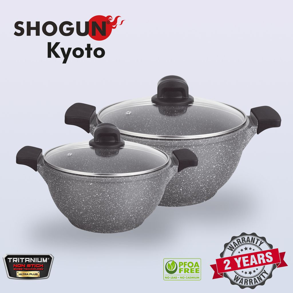 Shogun Kyoto 24-28cm cast casserole with 2pcs silicone sleeves and glasslid with Induction.jpg