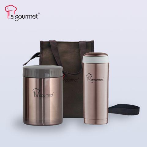 LG Sakura 3pcs Lunch Set (in a big pouch 0.58L Food Jar + 0.35L Sport Tumbler- Brass Brown).jpg