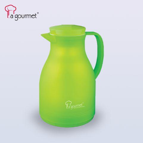 La gourmet® Camelia 1.0 ltr glass liner vacuum jug with pink glassliner (Apple Green).jpg