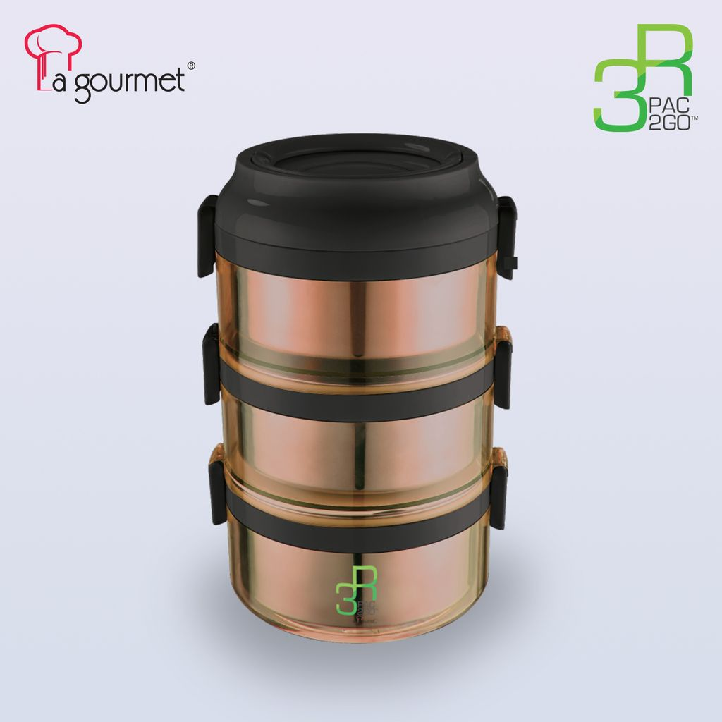 PAC2GO 2.35L L 3 tier leak proof tiffin carrier with 304 stainless steel insert & PP exterior.jpg