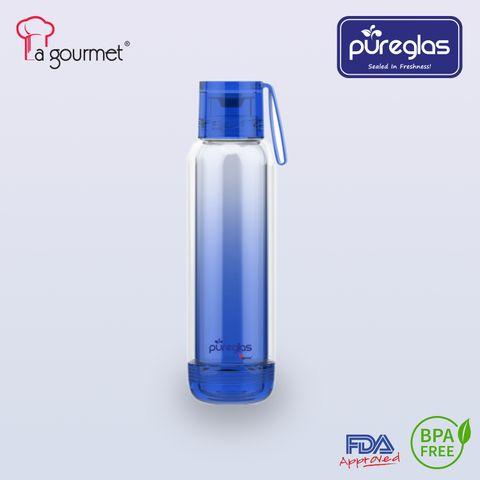La gourmet® Pureglass Double Walled 550ml Bottle - Blue.jpg