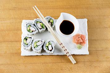 how to slice uramaki