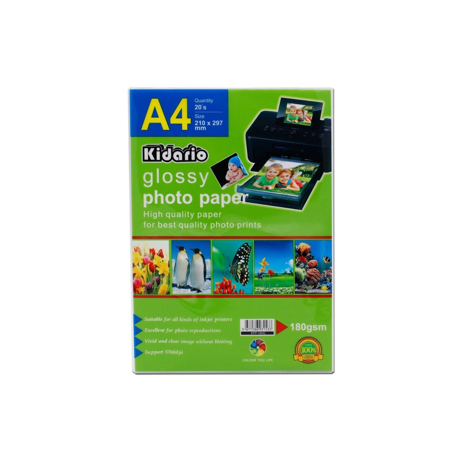 Kidario Glossy Photo Paper (A4) 180gsm 20sheets...jpg
