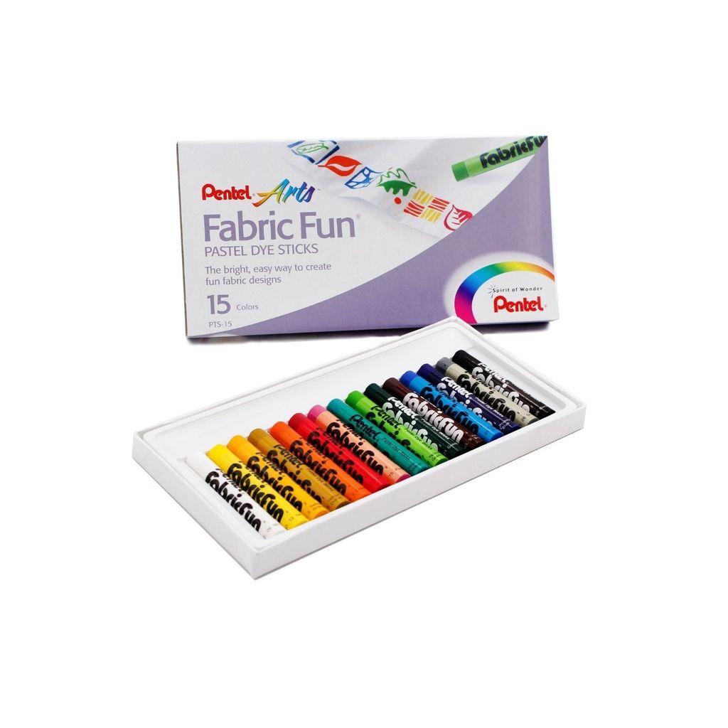 Pentel Arts Fabric Fun Pastel Dye Sticks 15colors PTS-15,,.jpg