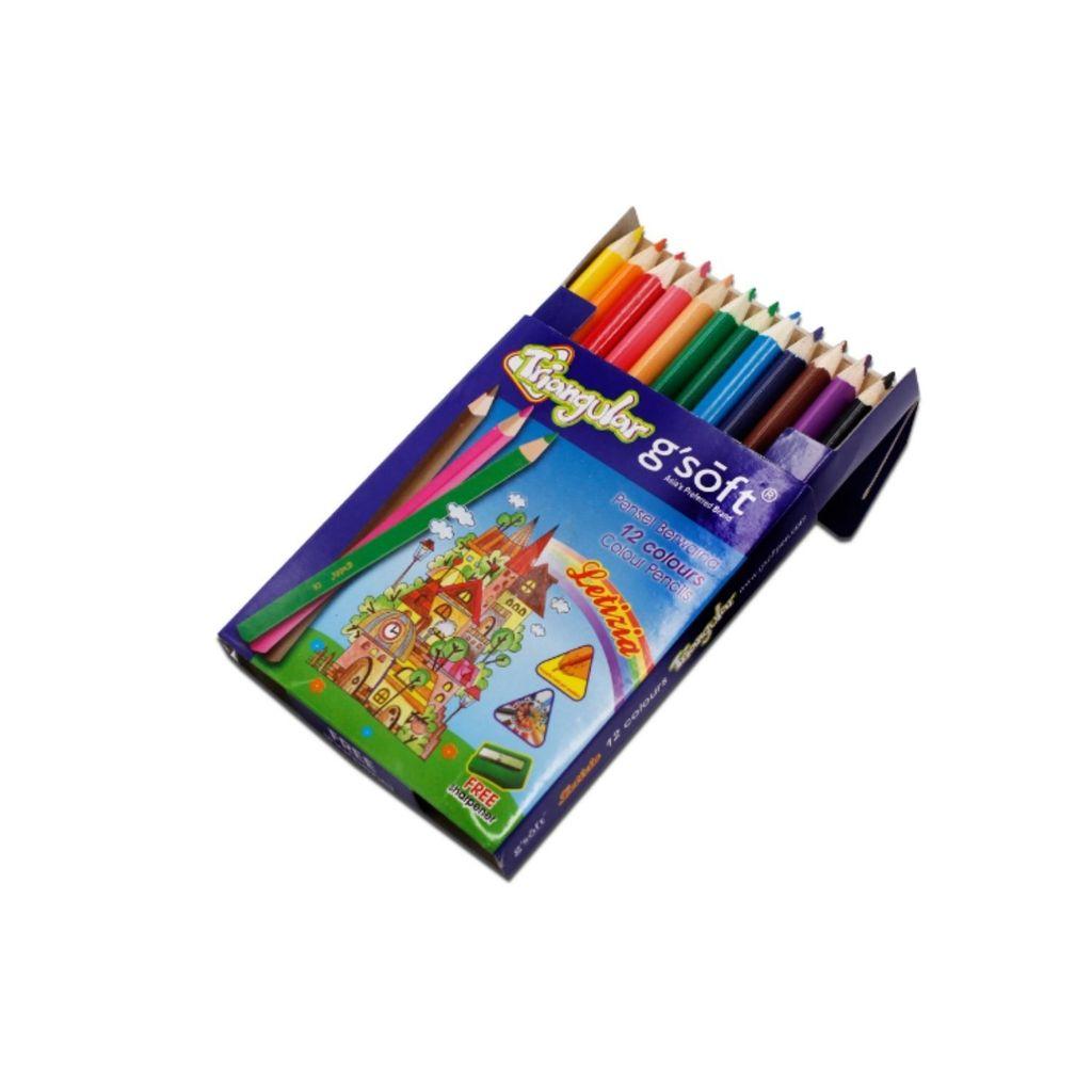 G'soft Color Pencils (SHORT) 12colors GS-1712S,,,.jpg