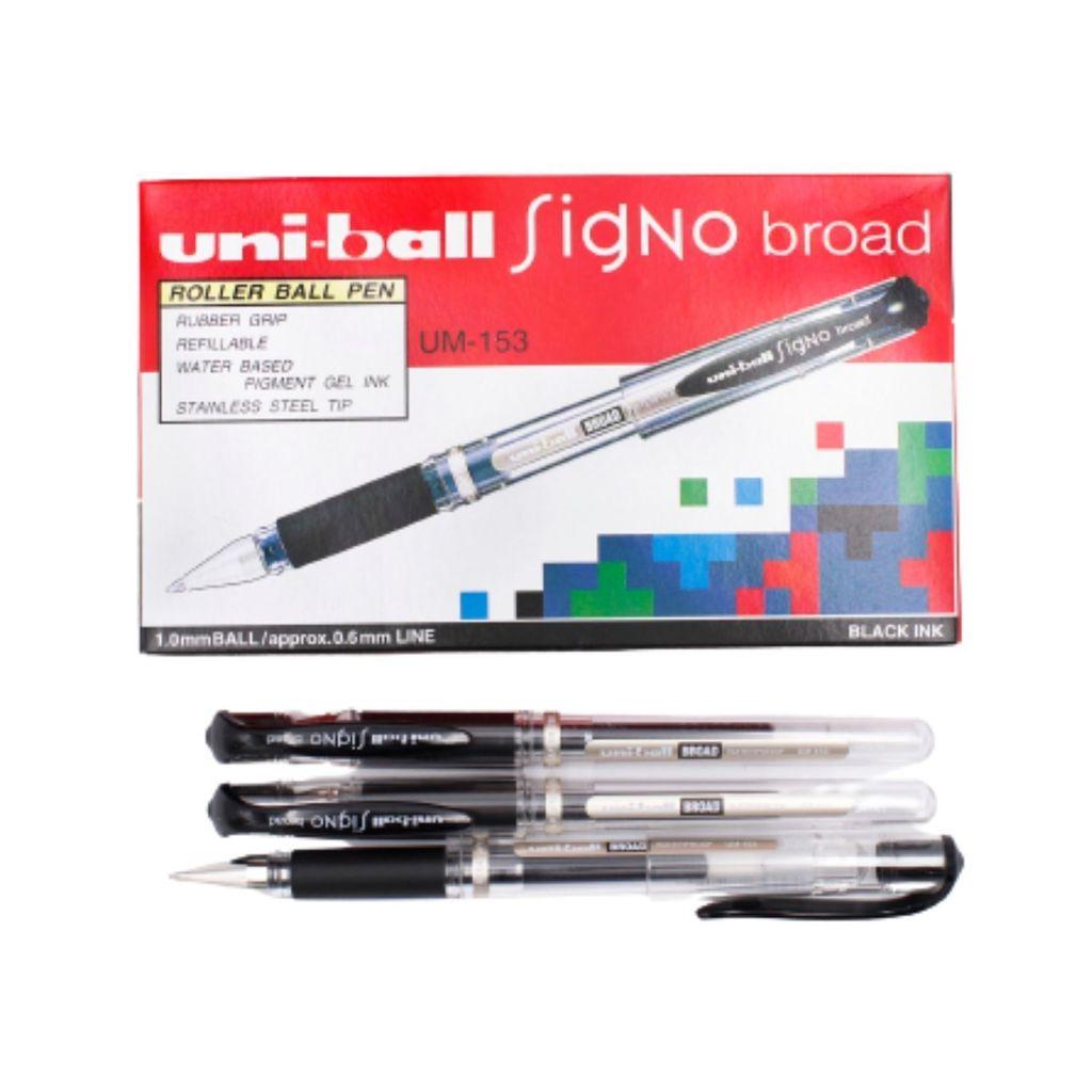 Uni-ball Signo Broad Roller Ball Pen (1.0mm) (Black) UM-153.jpg