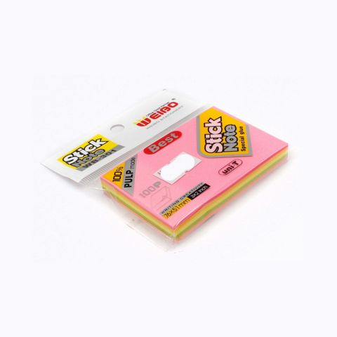 Weibo Colourful Stick Note 3x2inch 100sheets WB-301,,,.jpg