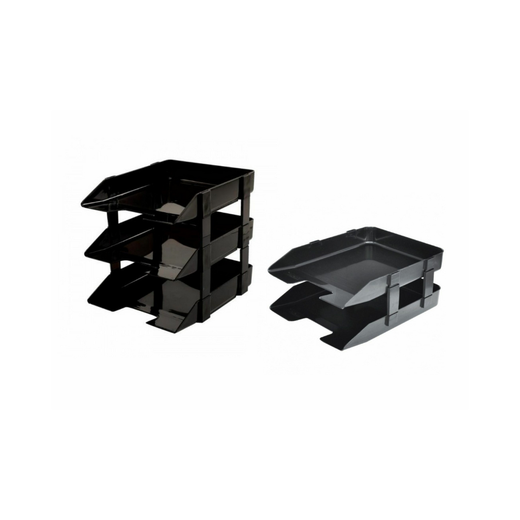 Write-best Document Tray 2 , 3 Tier (Black) WB-33,,.png