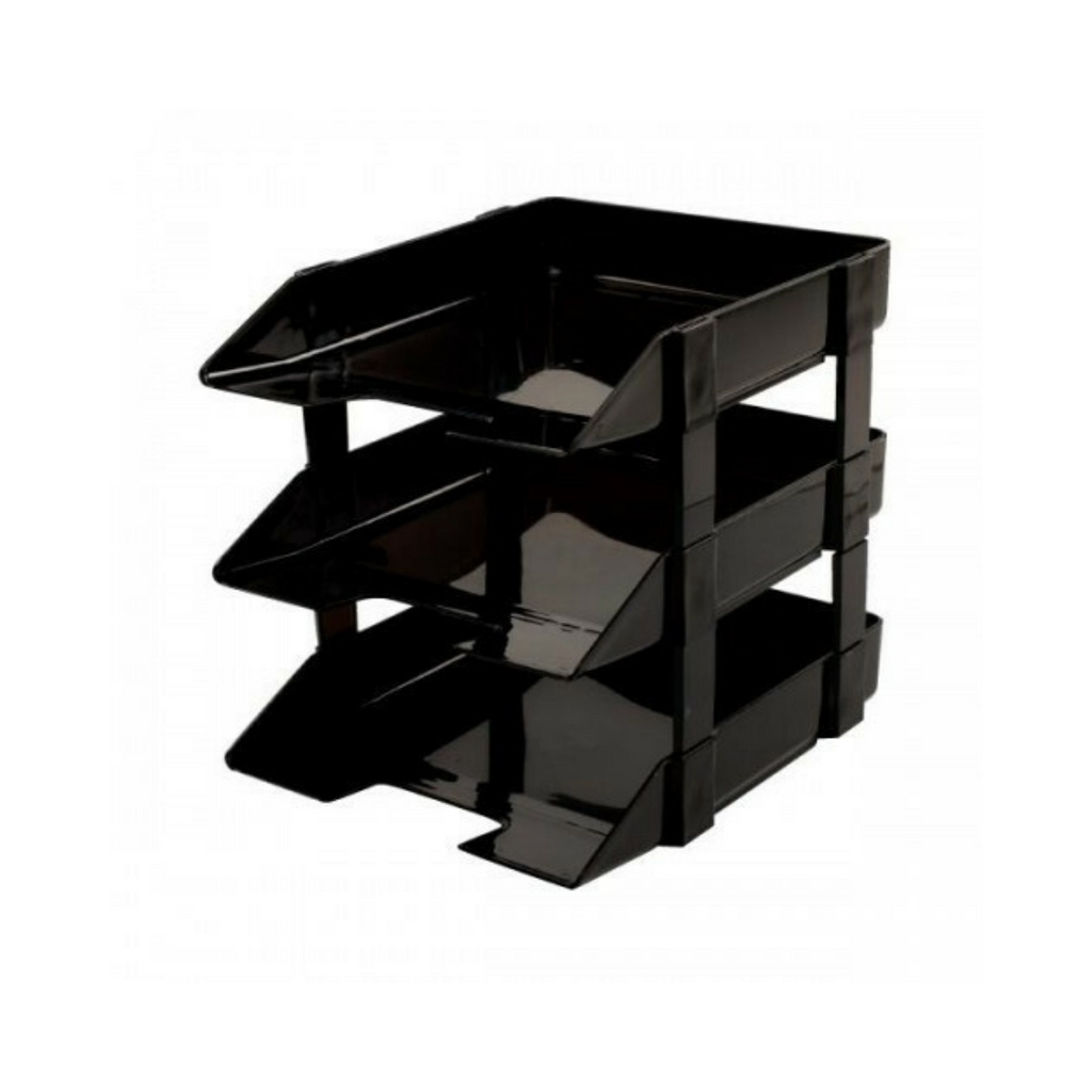 Write-best Document Tray 2 , 3 Tier (Black) WB-33....png
