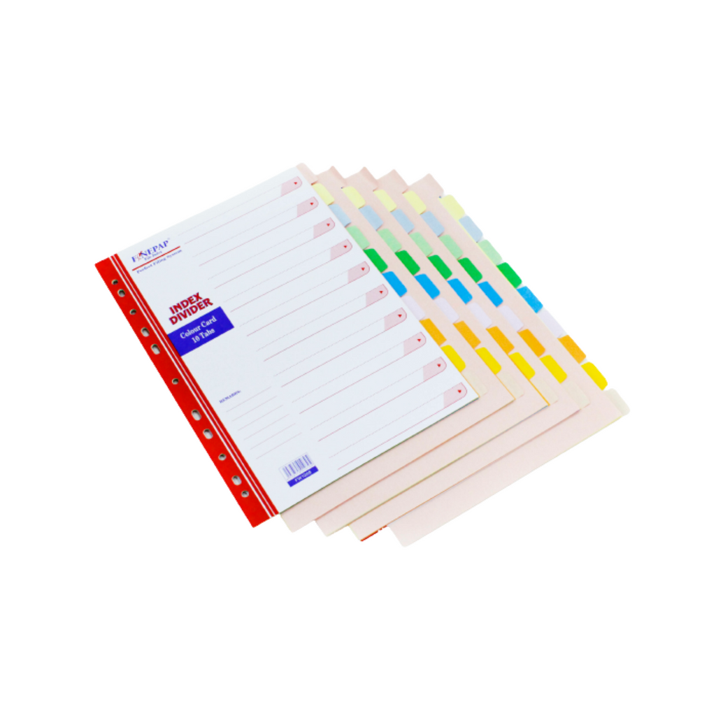 Finepap Colour File Index Divider Tag Board 160gsm,,.png