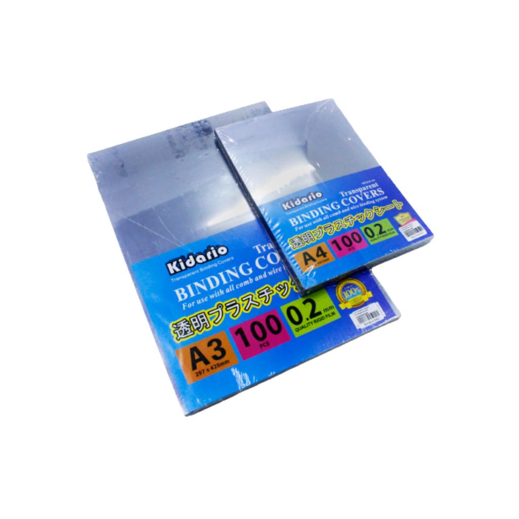 Kidario Transparent Binding Covers (A4 , A3) 0.2mm 100pcs,,,,.png