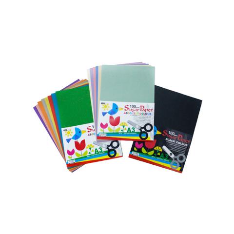 KAMI Sugar Paper (A3)  Assorted Colour 100gsm 20sheets.png