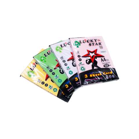 Lucky Star 3 Sheets Card (A4) 160gsm 100sheets Premium Colour Card.png