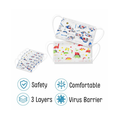 Disposable Kids Face Mask with Pattern 50pcs.png