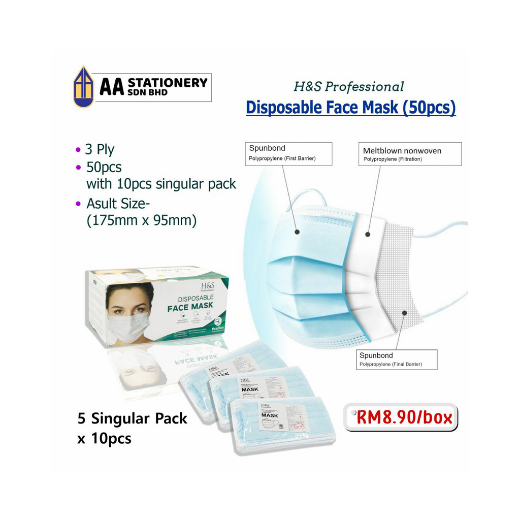 H&S Professional Disposable Face Mask 3ply (50pcs),..png
