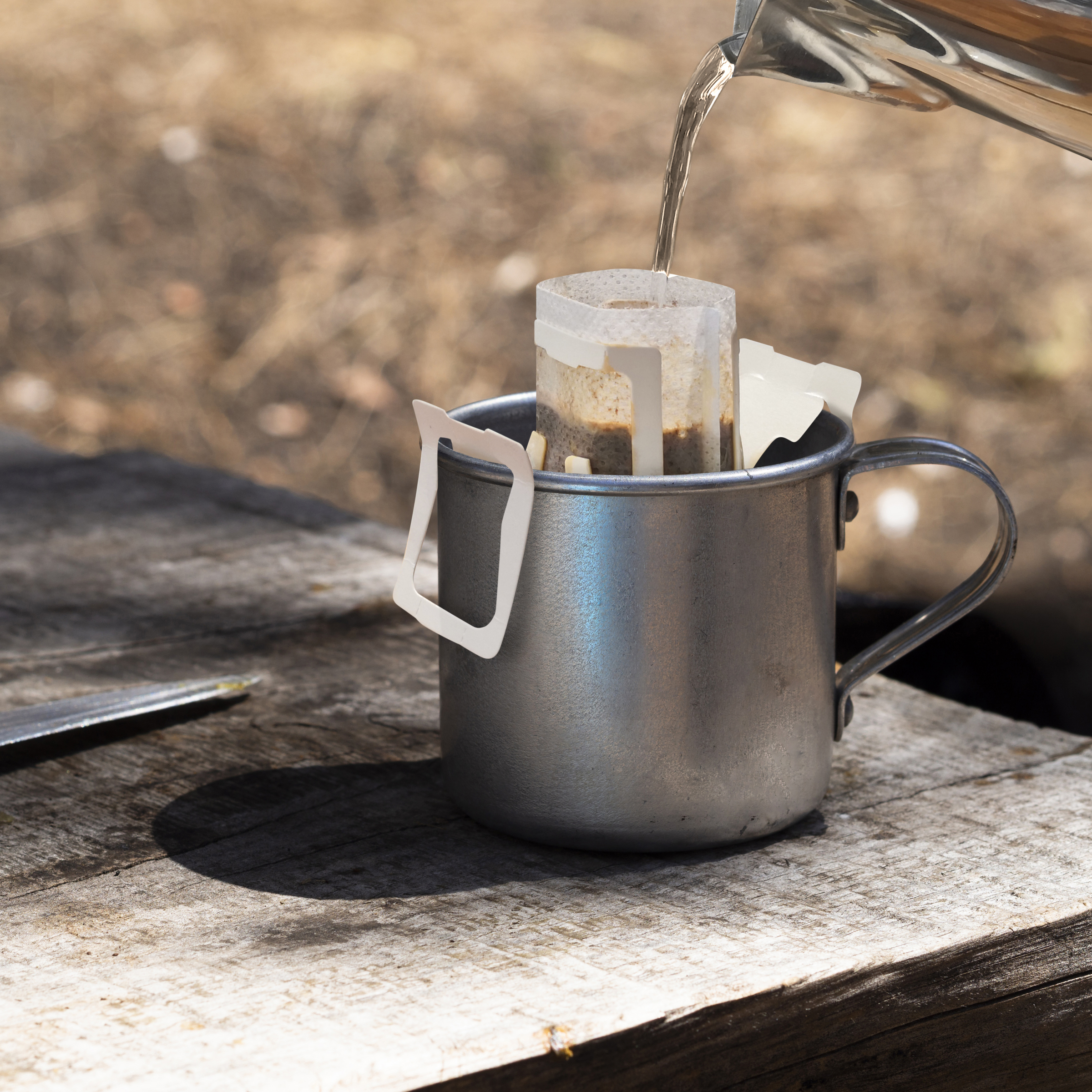 Vintage Metal Mug Knife Shabby Wooden Table 02.jpg
