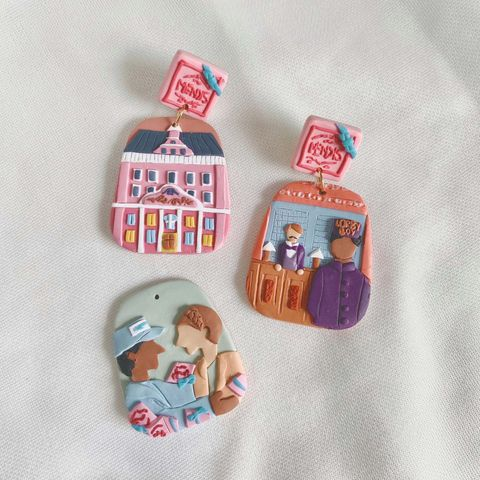 040-2 The Grand Budapest Hotel Statement Earrings With Mendl's Box 2.jpg