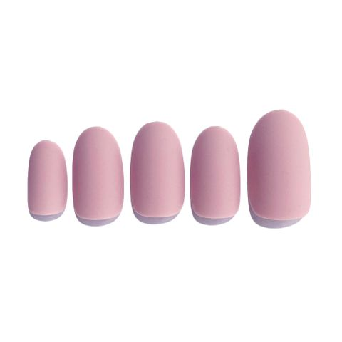 C-005 Sweet Memory - Pink Solid Color Press-on Manicure.jpg