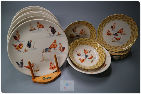Claytan Country Farmyard 15pcs Dinner Set For 6 Persons