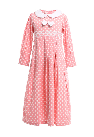 Children's 100% Cotton Long Sleeves Maxi Dress Yellow.jpg