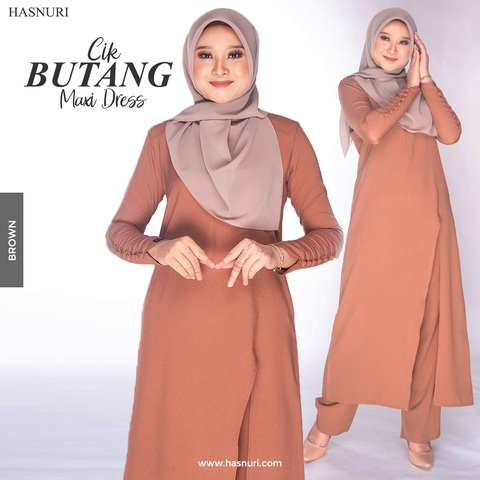 CIK BUTANG MAXU DRESS BROWN.jpg