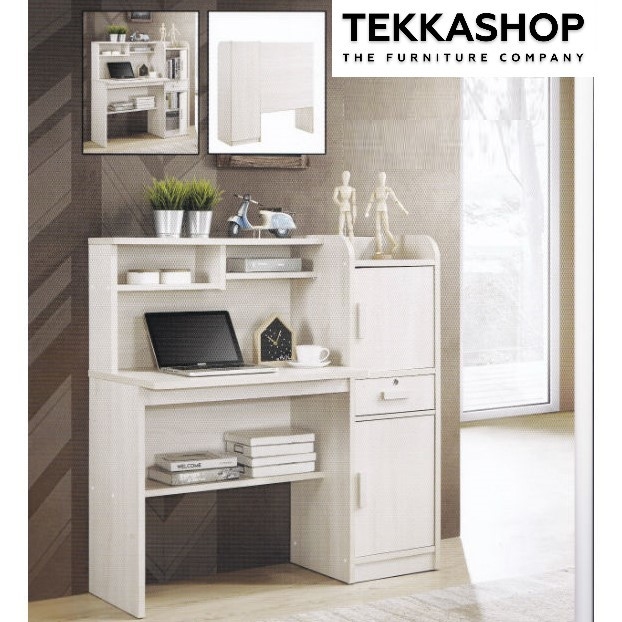 Mxot0665 Multi Function Melamine Study Desk Office Desk With Side Compartments And Multiple Top And Bottom Shelving Storage Tekkashop Furniture Furniture Homewares Lifestyle Destination Malaysia
