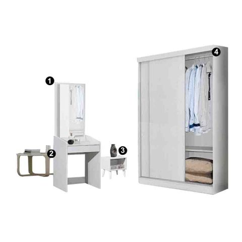 Luz 4×6 Sliding Wardrobe with Dressing table & Side Table.jpg