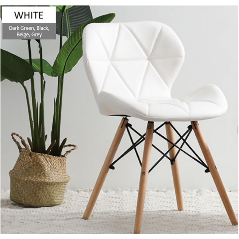 DorNordic Modern Design Eames Chair with Leather Cushion Seat  Solid Wood Leg-variants-White-2.png