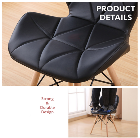DorNordic Modern Design Eames Chair with Leather Cushion Seat  Solid Wood Leg-main-4.png